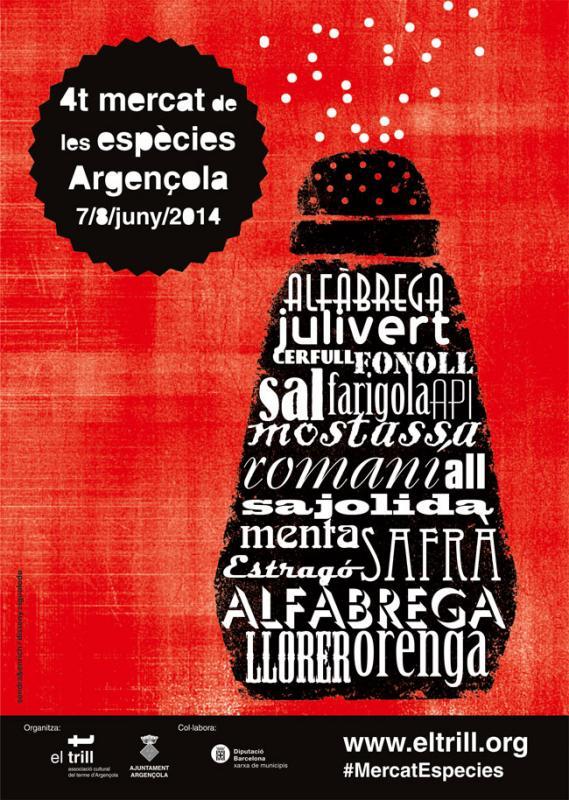 07.06.2014 Cartell 4t Mercat de les Espècies  Argençola -  El Trill