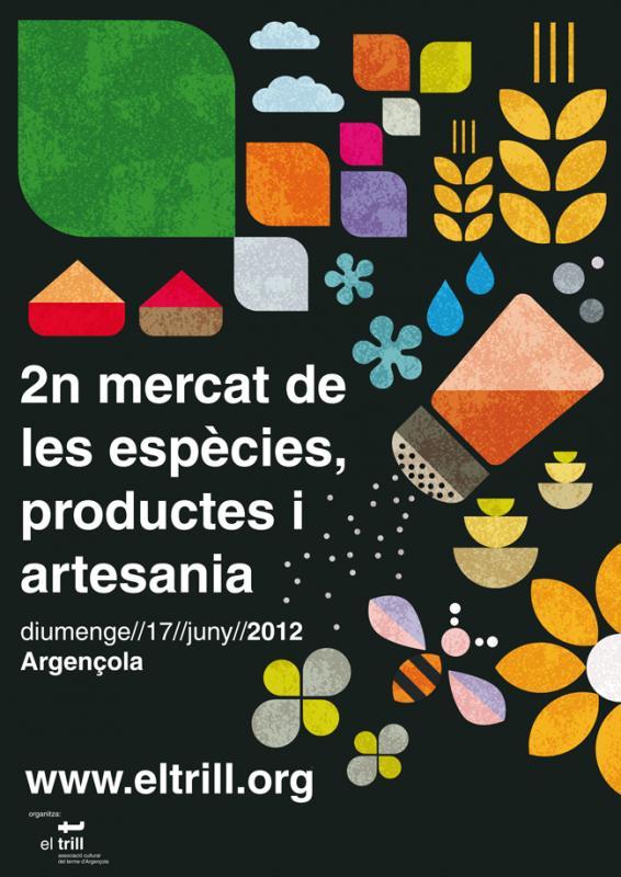17.06.2012 Cartell 2n Mercat de les Espècies  Argençola -  El Trill