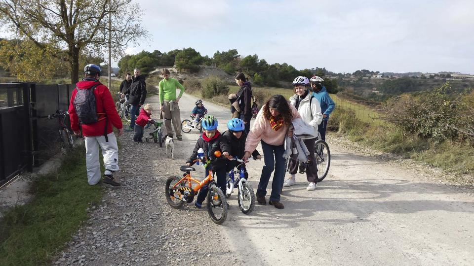 14.12.2014 Els petits van disfrutar de la pedalada  Argençola -  Jaume Teixé