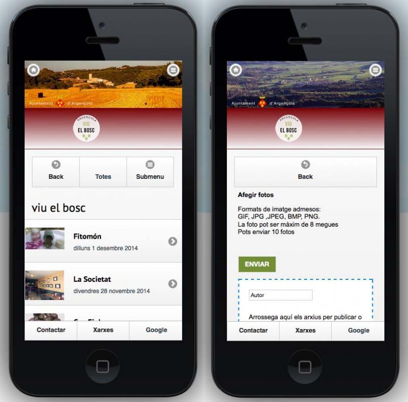 Versió mòbil, funcionalitats -