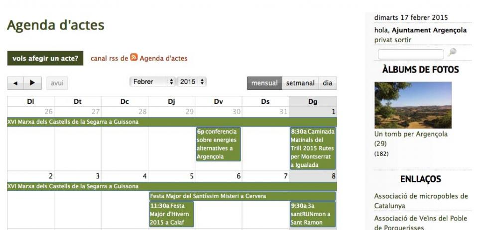 Agenda nova web -