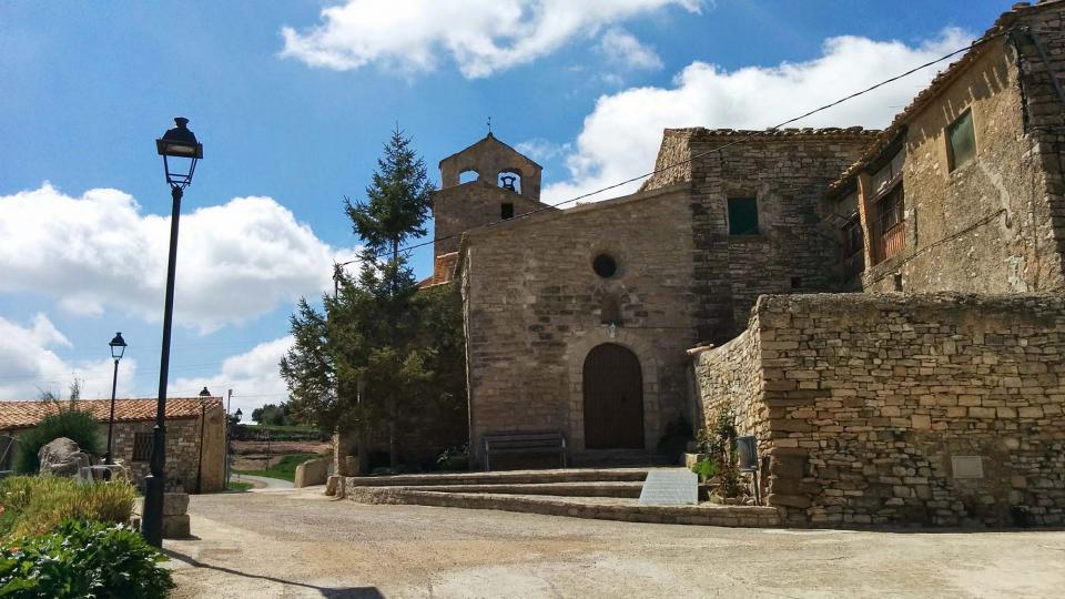 19.04.2015 Església de Sant Bartomeu romànic S XI  Carbasí -  Ramon Sunyer