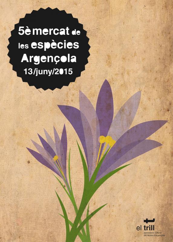 cartell 5ª Mercat de les espècies d'Argençola