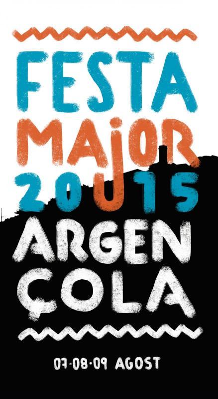 cartell Festa Major d'Argençola 2015