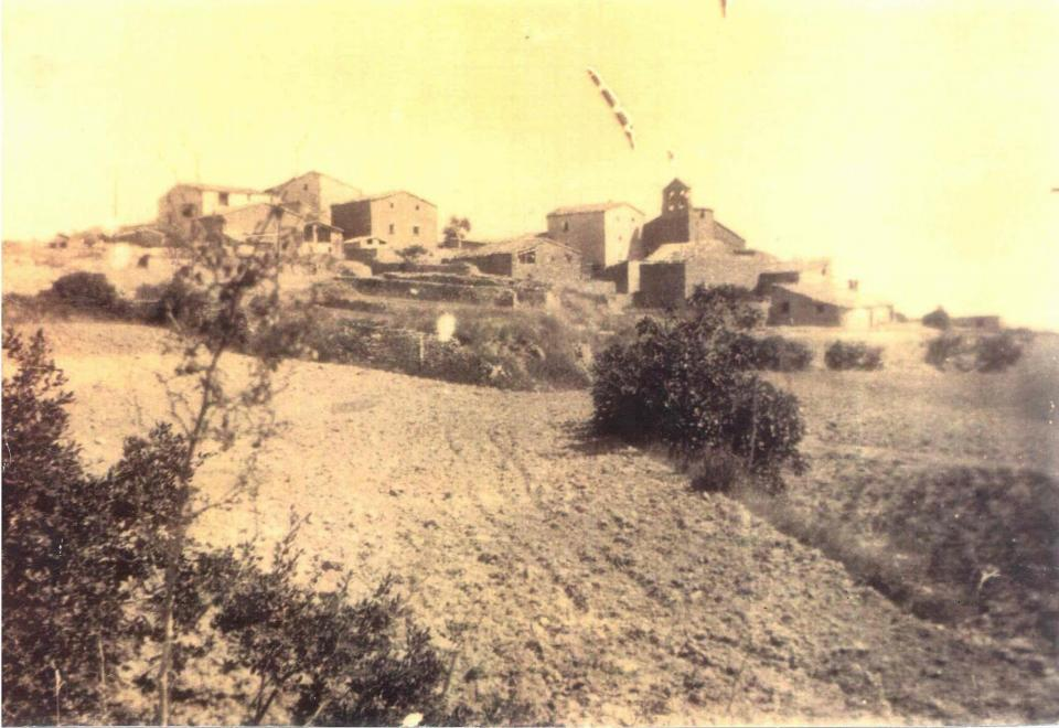 Vista del poble any 1940
