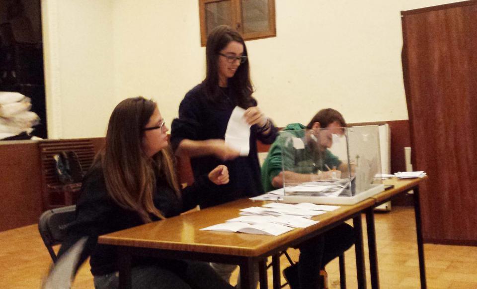 Recompte vots eleccions Parlament 2015 - Argençola