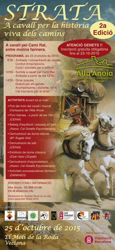 cartell 2a edició de la Fira del Món del Cavall 'Strata'