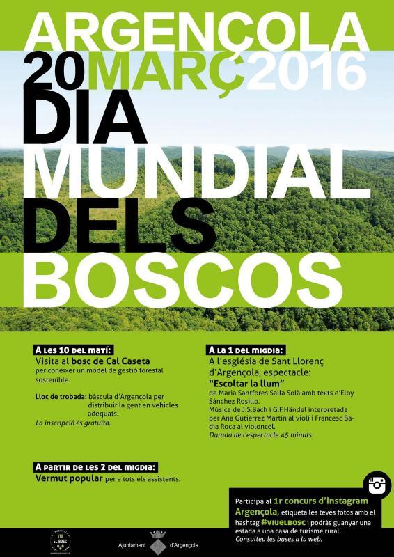 Argençola celebrarà el Dia Mundial dels Boscos - Argençola