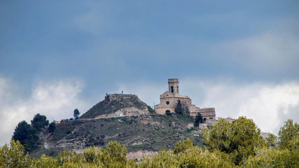 20.03.2016 L'església i el castell  Argençola -  Ramon Sunyer