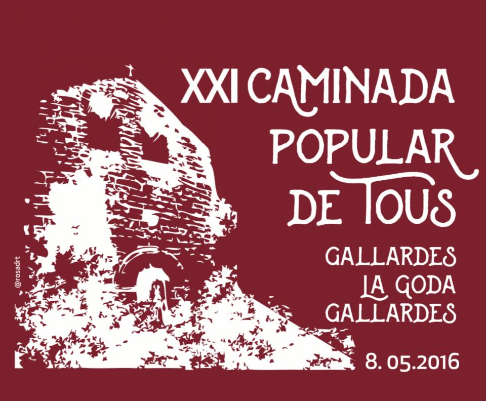 cartell XXI Caminada Popular de Tous