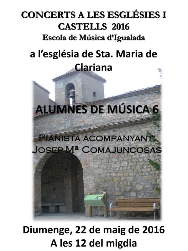 cartell Concerts Esglésies i Castells 2016