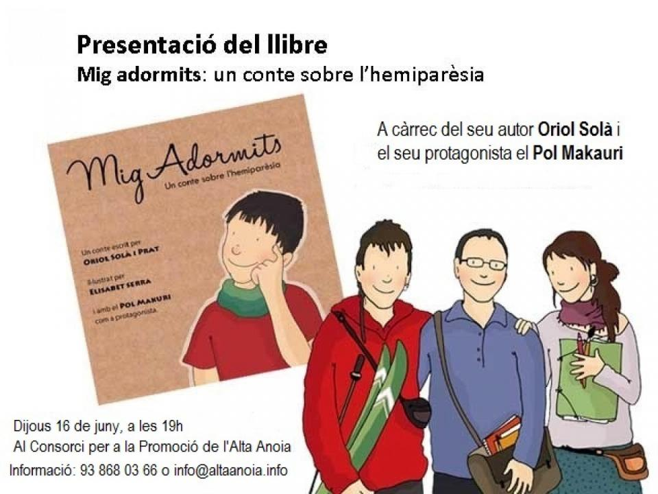 cartell Presentació del llibre 'Mig adormits'