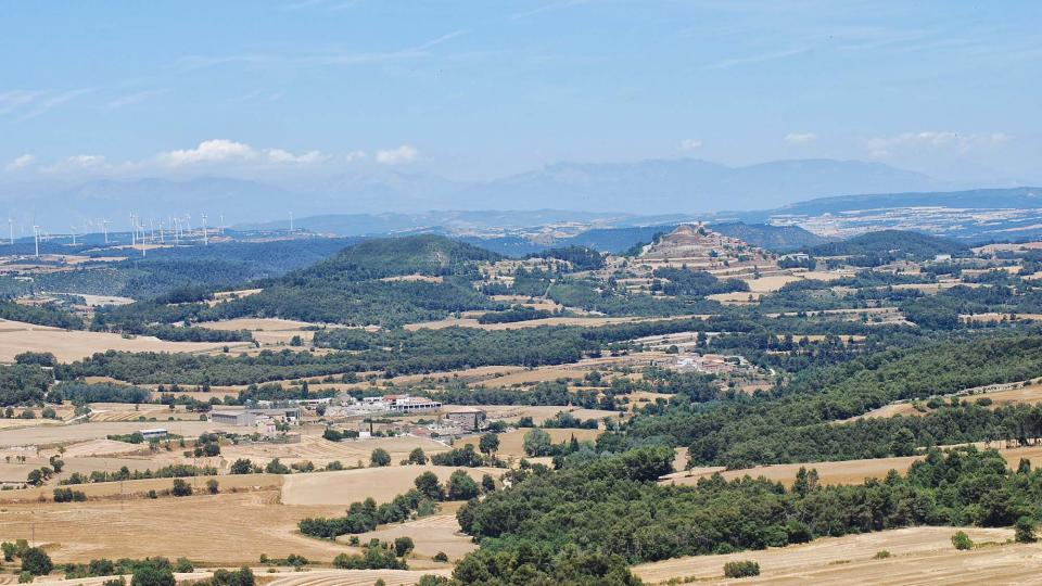 04.07.2016 Vista d'Argençola des dels Plans de Ferran  Argençola -  Ramon  Sunyer