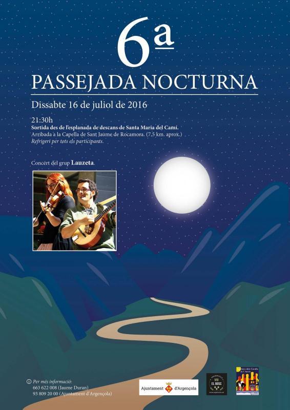 cartell 6a Passejada nocturna de Rocamora