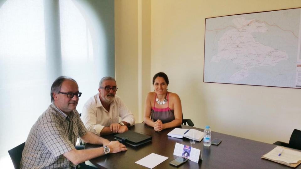 La delegada del Govern a la Catalunya Central, Laura Vilagrà, visita Argençola - Argençola