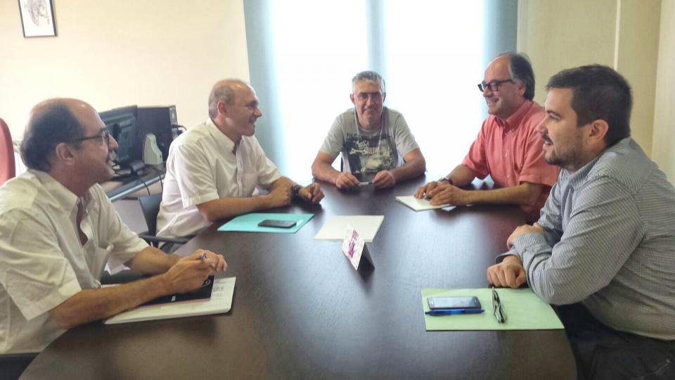 Visita del Diputat delegat d'Infraestructures Viàries i Mobilitat de la Diputació de Barcelona Jordi Fàbrega a Argençola - Argençola