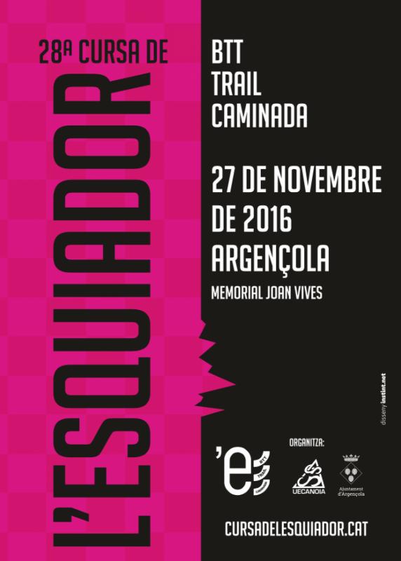cartell 28a Cursa de l'esquiador - Argençola