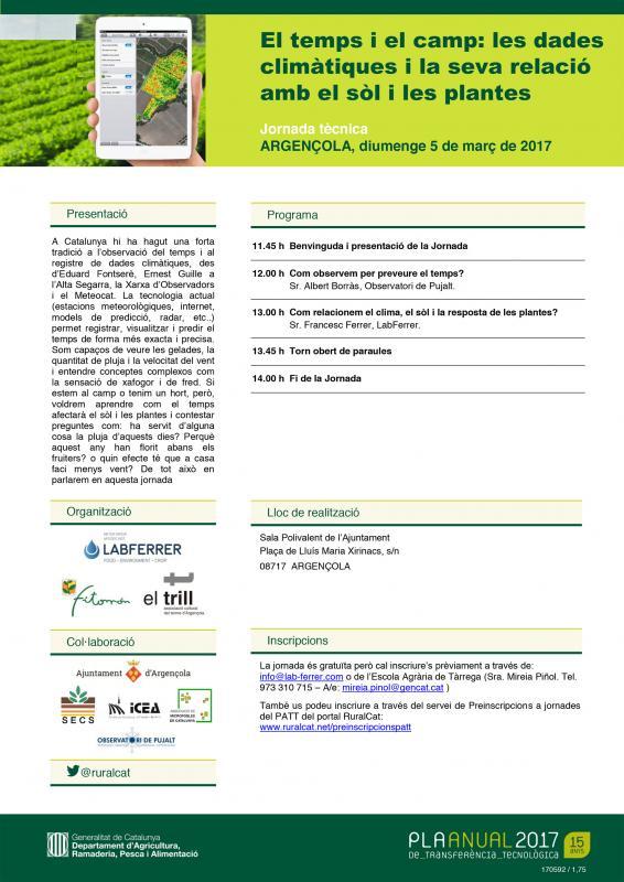 cartell El temps i el camp: les dades climàtiques i la seva relació amb el sòl i les plantes