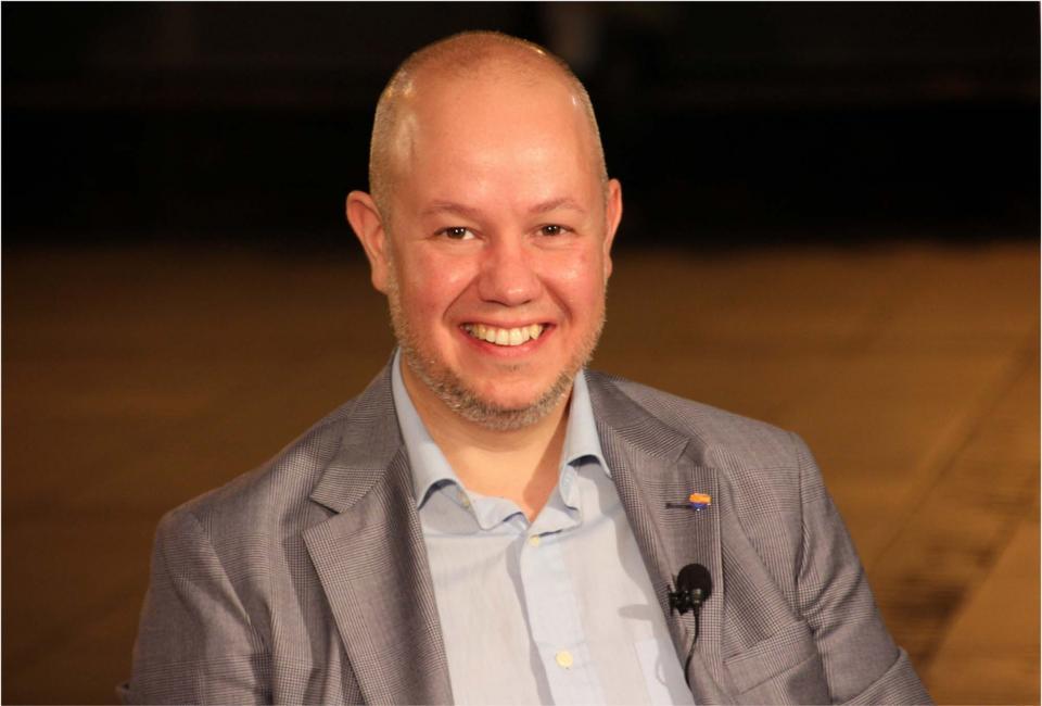 Joan Garcia, portaveu d'empresa i governació, de Ciutadans al Parlament de Catalunya
