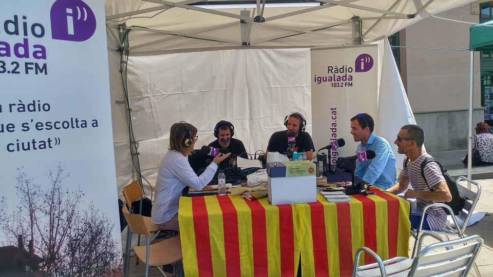 23.04.2017 Ton Lloret i Martí Garrancho  entrevistats per Ràdio Igualada  Igualada -  Marina Berenguer