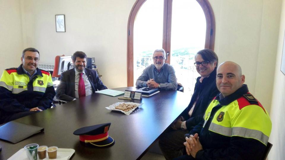 Visita dels responsables d'Interior a Argençola - Argençola