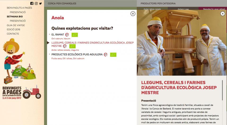 Agricultura Ecològica Josep Mestre participa a la Setmana Bio del Benvinguts a pagès - Argençola