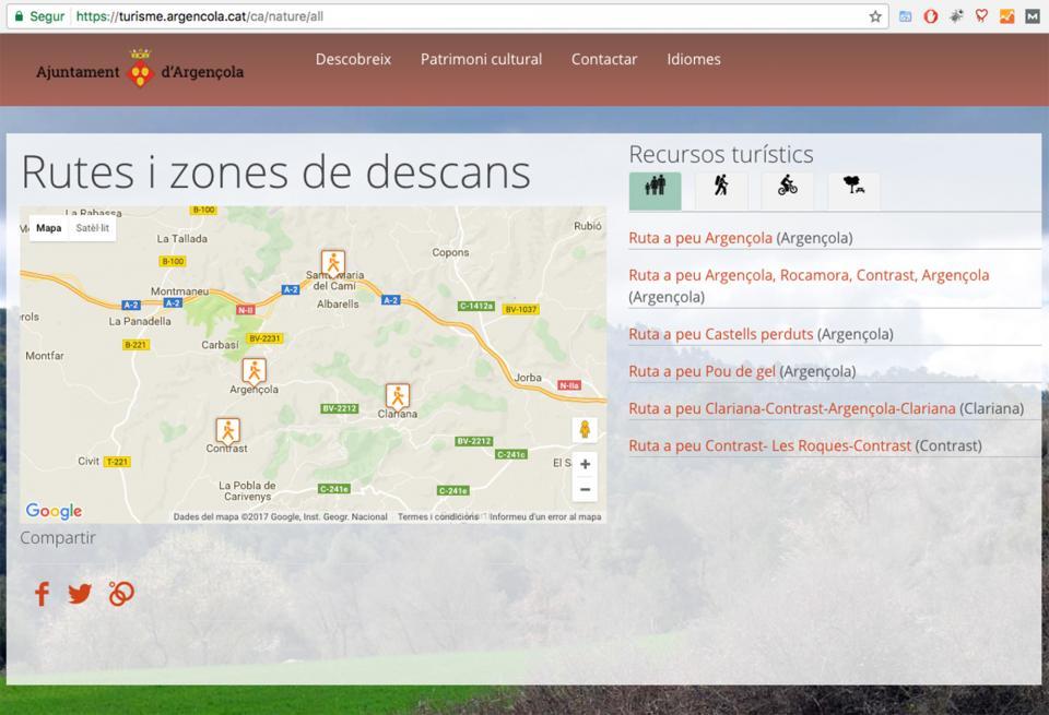 El web de turisme també utilitza servidor segur - Argençola
