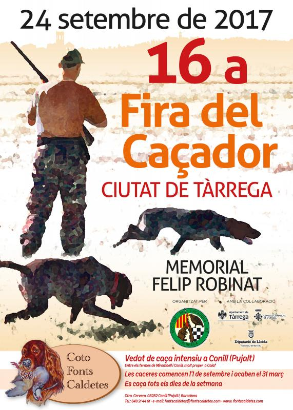 cartell 16a Fira del Caçador Ciutat de Tàrrega