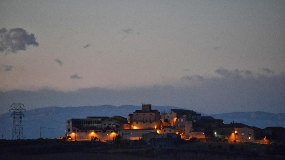 16.12.2017 vista al capvespre  Carbasí -  Ramon  Sunyer