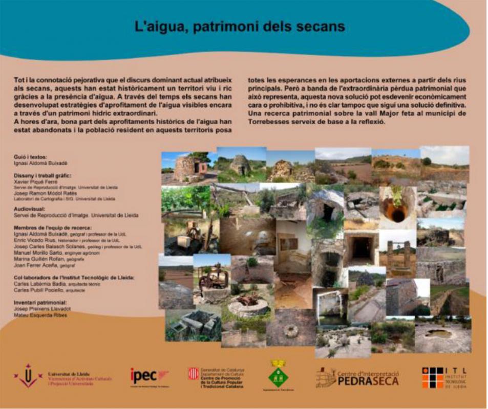 Exposició L'aigua patrimoni dels secans - Argençola