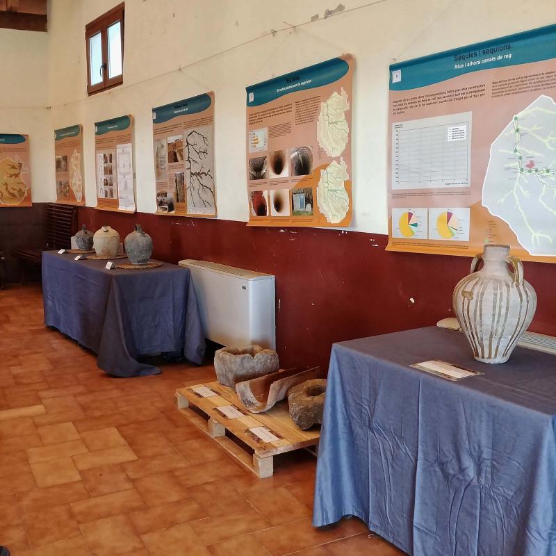 14.04.2018 Exposició L'aigua patrimoni dels secans   Argençola -  Martí Garrancho