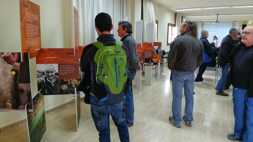 14.04.2018 Exposició Saurins: la percepció del subsòl  Argençola -  Martí Garrancho