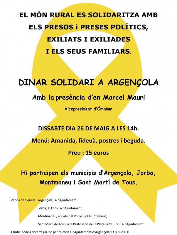 Dinar solidari d'Argençola, Jorba, Montmaneu i Sant Martí de Tous - Argençola
