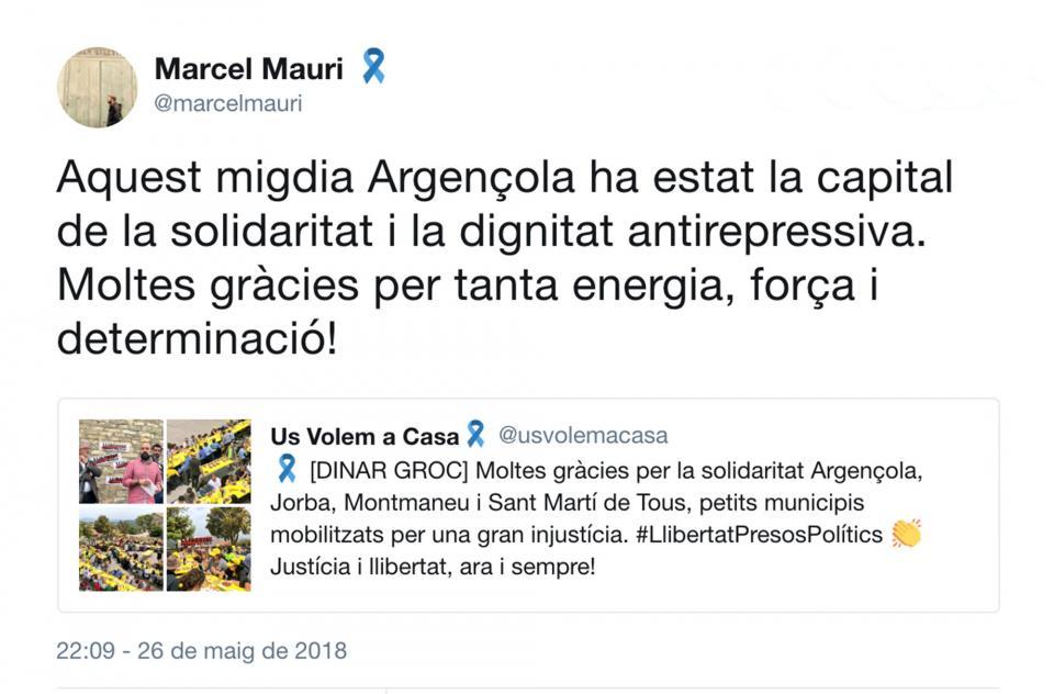 Piulada de Marcel Mauri -