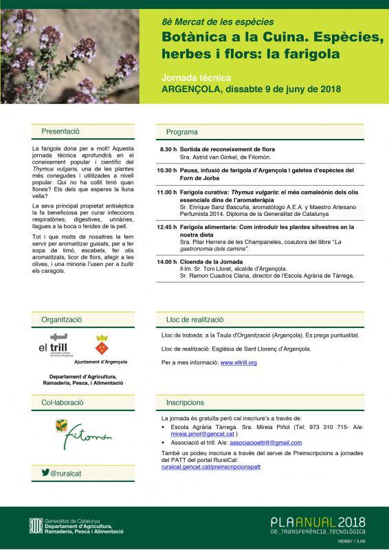 Jornada Tècnica Botànica a la Cuina. Espècies, herbes i flors - Argençola