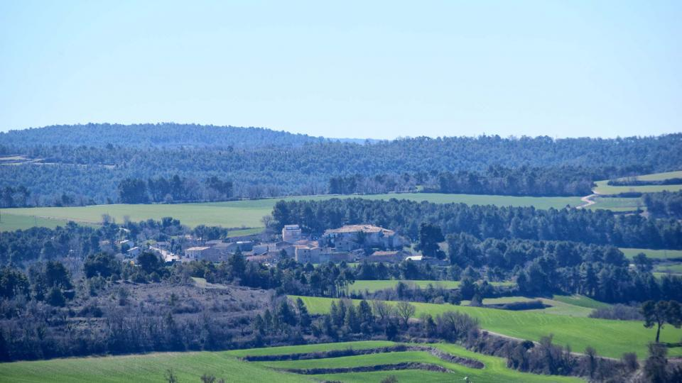 28.03.2018 Vista de la Pobla de Carivenys  Argençola -  Ramon Sunyer