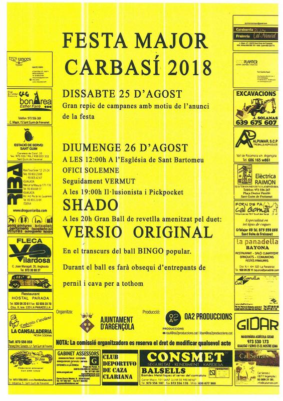 Festa Major de Carbasí 2018