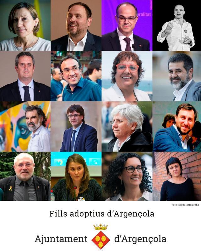 Argençola nomenarà fills adoptius els polítics empresonats i els exiliats - Argençola