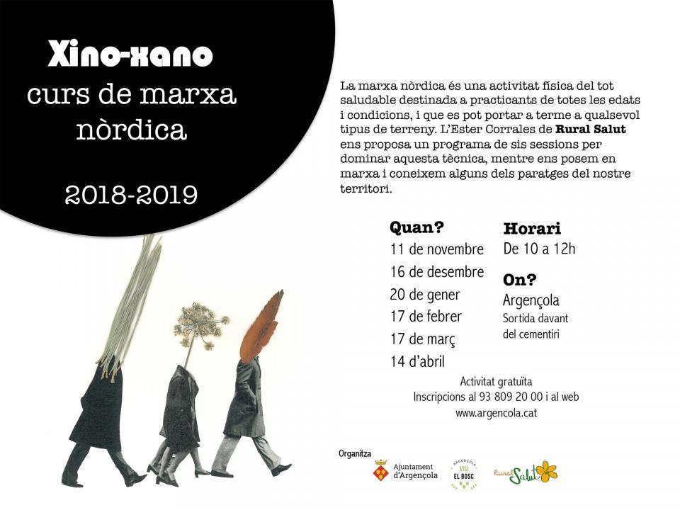 Xino-Xano 'Curs de marxa nòrdica 2018-19' - Argençola