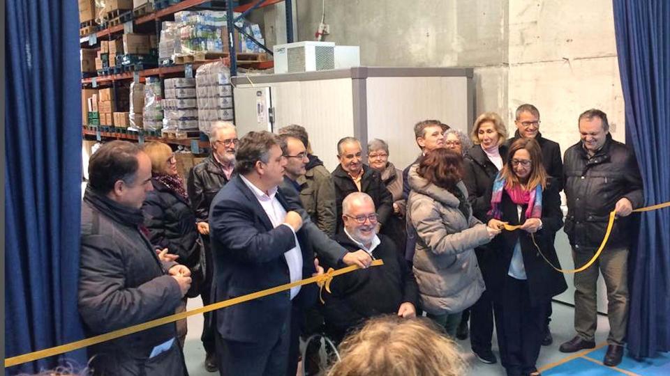 Inauguració oficial del banc d'aliments de l'Anoia -