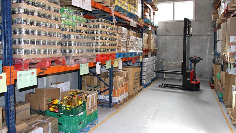 El banc d'aliments de l'Anoia situat a Santa Margarida de Montbui -