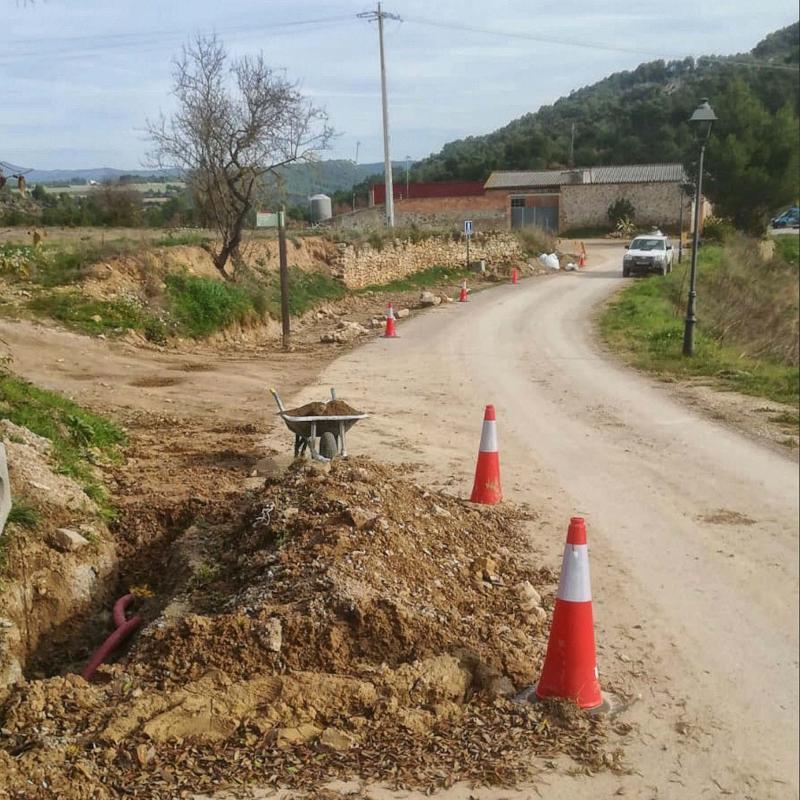 Obres d'abastament d'aigua potable a Clariana - Clariana