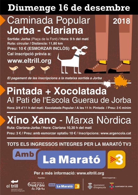 Activitats per la Marató de TV3 d'Argençola i Jorba
