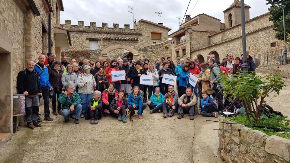 16.12.2018 Participants a la caminada popular i xino xano per la Maratò  Clariana -  Natxo Oñatibia