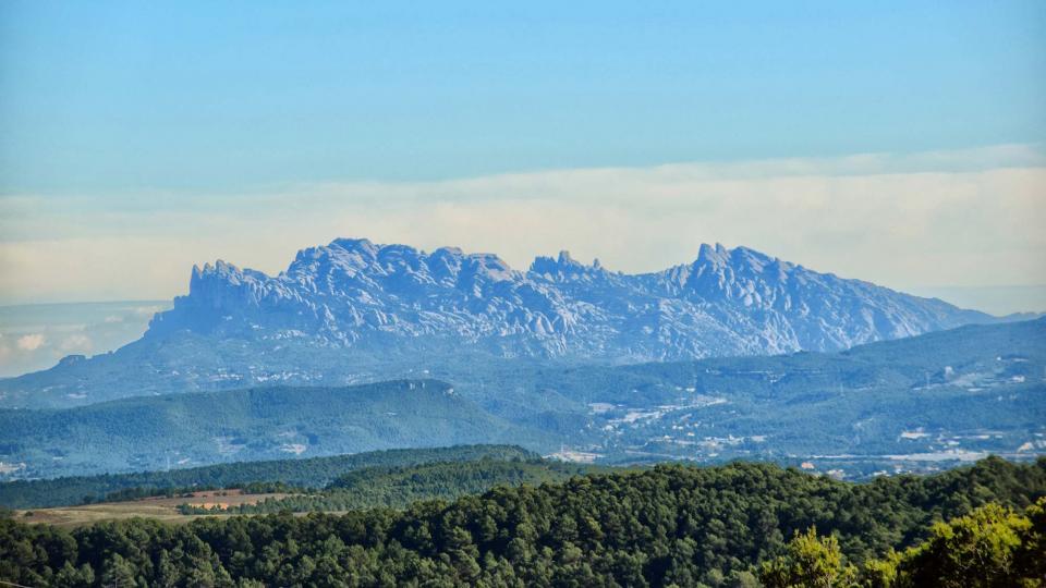 03.11.2018 Vista de Montserrat des del mirador  Argençola -  Ramon  Sunyer