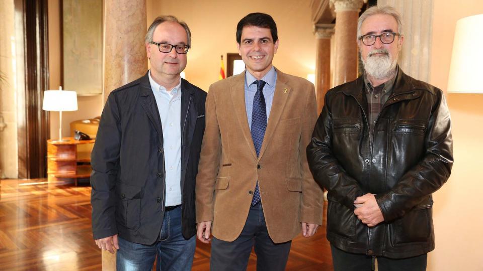 Reunió amb Marc Castells, President de la Diputació de Barcelona -