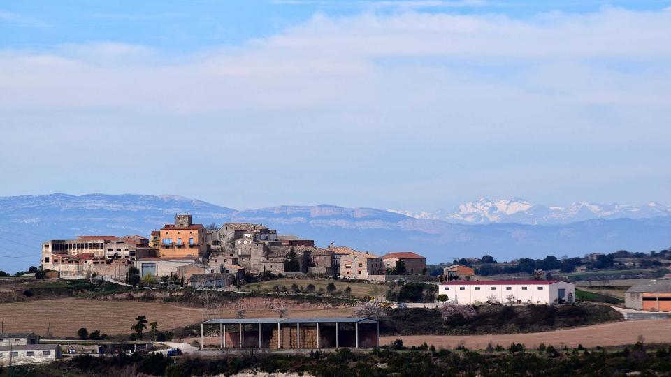 03.03.2019 vista del poble  Carbasí -  Ramon Sunyer