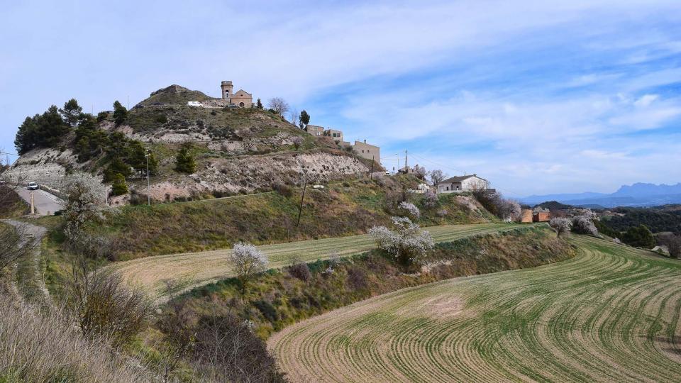 03.03.2019 vista del poble  Argençola -  Ramon Sunyer