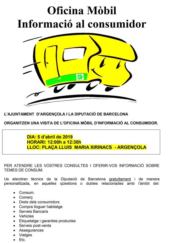 Unitat Mòbil d'informació al Consumidor - Argençola