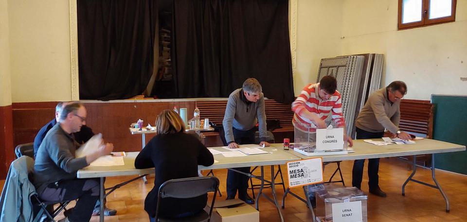Resultats eleccions generals 2019 a Argençola -